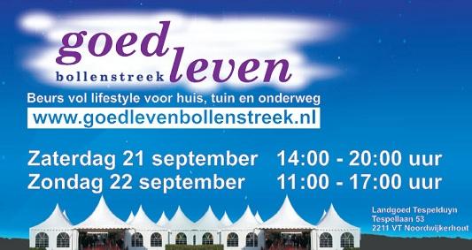 Goed Leven Bollenstreek, lifestylebeurs 21 en 22 september 2013 op landgoed Tespelduyn